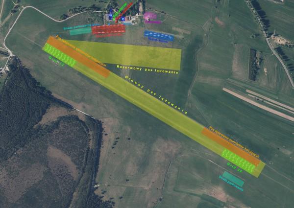 Mapa lotniska